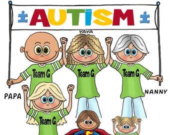 Matching Walk for Autism Shirts - Matching Group 5K Shirts - Matching Walk Shirts - Matching Autism Speaks Shirts - Matching Charity walk