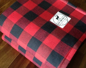 Black & Red Plaid Blanket