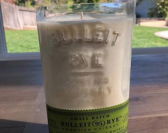 Upcycled Liquor Bottle Candle - Whisky Label