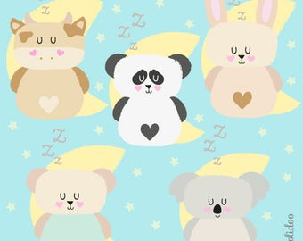 Kawaii Clip Art - Baby Animals Clipart - Kawaii Clipart - Kawaii Animals Clipart - Cute Baby Animals Clipart - Instant Download