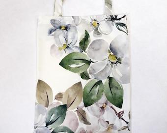 Shopping bag Simple tote bag Grocery bag Cloth bag Polyester bag Nice shopping bag Gift for flower lover Market tote bag Appletree Totes