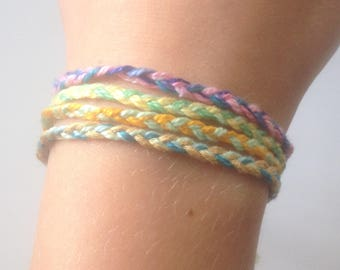 Braided Friendship Bracelets/Chokers- Tie On