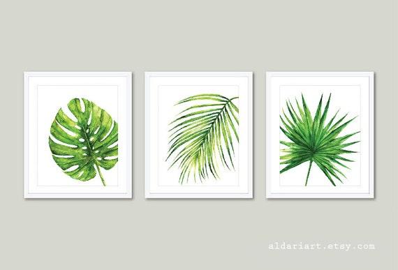 Tropical Art Palm Wall Art Monstera Leaf Print Monstera