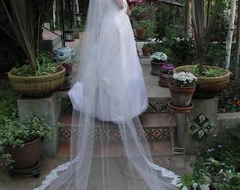 "Mantilla veil - Oval 108"" long - Mantilla wedding veil oval cut 108"" long - Mantilla bridal veil."