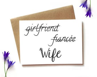 wedding card to wife, from groom to bride card, new wife card, wedding day card - girlfriend, finacee, wife