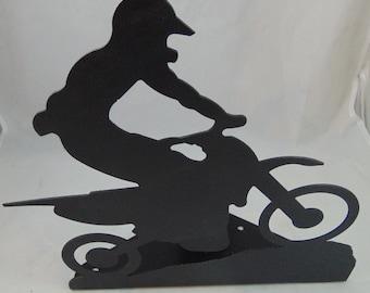 Metal Custom Motocross Dirt Bike Door Stop, Motorcycle Art