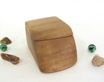 Oregon Myrtlewood Box, guitar pick holder, presentation box, engagement ring box, ring bearer box, earring box, jewelry box, cuff links box