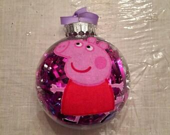 Handmade Peppa Pig Christmas Ornaments!