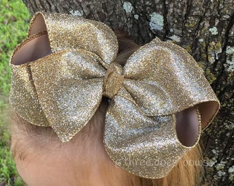 Glitter Bows - Glitter Bow - Glitter Hair Bows - Big Glitter Bow - Large Hair Bows - Glitter Hairbows - Full Glitter Bows - Glitter  Hairbow