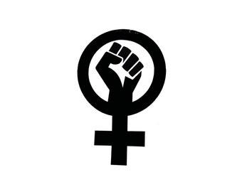Female Feminist Resistance Vinyl Sticker/Decal 3 Pack
