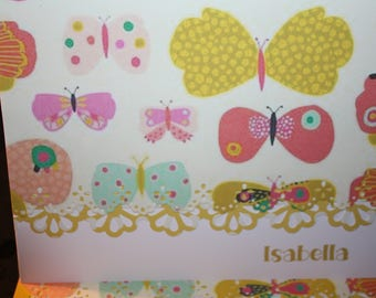 Butterflies are free!  themed Handcrafted Note Cards - set of 10