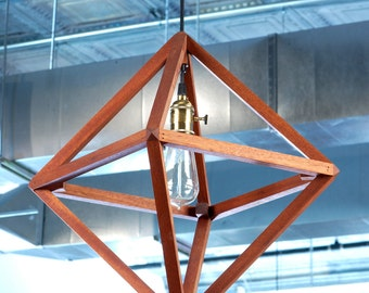 Small Wooden Light Pendant With Crossbar