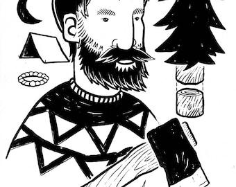 Camper (original drawing)