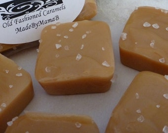 Sea Salt ~ Box of 32 extra creamy, old fashioned, Salted homemade caramels