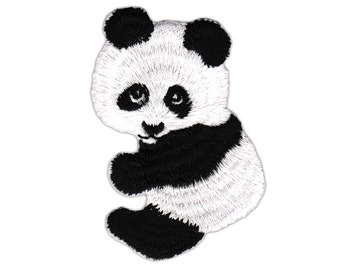 AC97 Panda Bear Animal Zoo children patch Patch ironing application patches size 4.7 x 7.4 cm