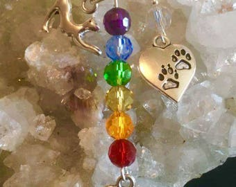 Pet Memorial Charm Necklace - cat necklace - dog necklace - pet remembrance necklace