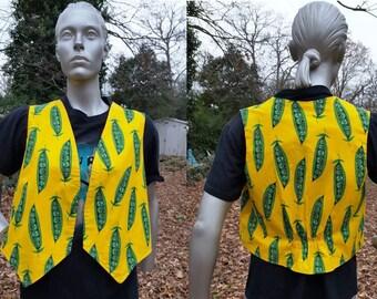 Womens Vest, Vintage Vest, Anthropomorphic, Handmade, Gift for Her, Gift, Fun Vest, 80s Vest, Vintage Costume, Novelty Vest, Vest Size L