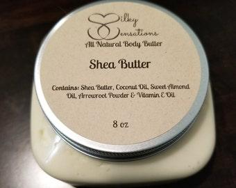 Shea Butter Body Butter (Unscented), Shea Body Butter, Unscented Body Butter, 4oz Shea Body Butter, 8oz Shea Body Butter, 16oz Shea Body