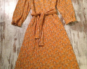 Vintage Yellow Sun Dress