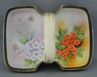 Hand Painted Nippon Handled Tray