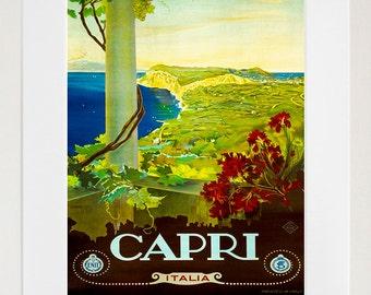 Art Italy Travel Poster Capri Print Vintage (ZT246)