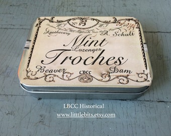 Mint Troches - Breath Lozenge Mints In The Historical Manner