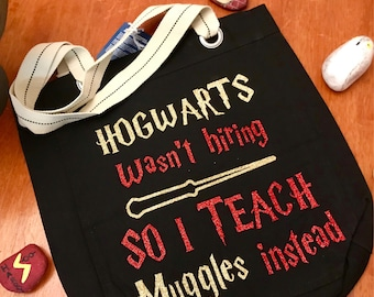 Personalized Harry Potter Teacher Book Bag
