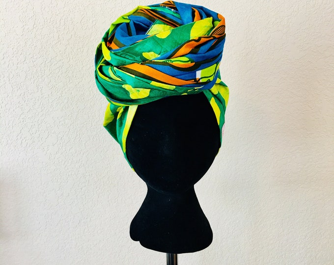 Featured listing image: Head Wrap - African - Reversible - Kop Wrap - Oase (Oasis)