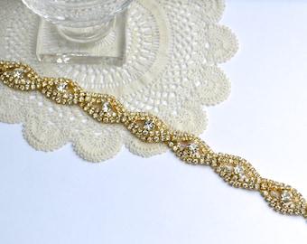 Golden Bridal Sash, Bridesmaid Belt,Gold Wedding Belt,Gold Wedding Sash,Golden Bridal Belt,Rhinestone Sash,Rhinestone Belt,Gold Crystal Sash
