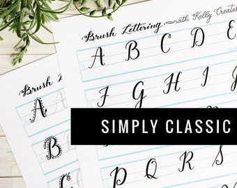 """Uppercase """"Simply Classic"""" Worksheets for Small Brush Pens"""