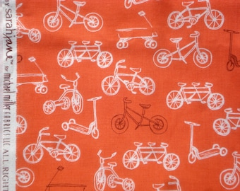 Sarah Jane Children at Play On the Go orange Michael Miller fabric FQ or more OOP HTF