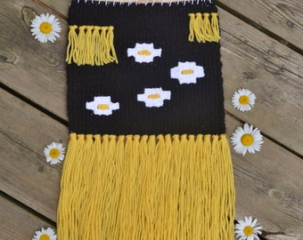 ON SALE  Floral Handwoven Wall Hanging