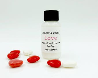 Love Hand and Body Lotion - Love - Hand and Body Lotion - Love Lotion - Hand Lotion - Vegan Lotion - Cruelty Free