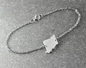 Free shipping  -  Missouri  state bracelet  state Charm Bracelet  custom state bracelet  state jewelry  choose your state charm
