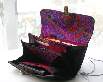 Phone wallet clutch - smartphone, women wallets, iphone wallets, wristlet, cell phone,deluxe edition  - MADE TO ORDER