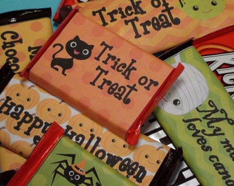 Halloween Candy Wrappers - Instant Download ON SALE 50% OFF