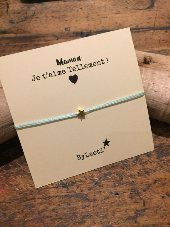 "Ribbon Bracelet ""MOM I love you"""
