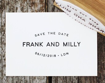 Save the Date Stamp, Stylish save the date stamp, Modern wedding stamp, Wedding stationery stamp, Wedding stamp, modern wedding invitation