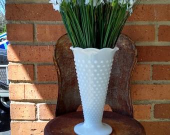 Hobnail Milk Glass Vase!