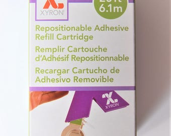 "Xyron 1.5"" Repositionable Adhesive refill cartridge AT156-20 sticker maker"