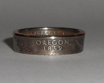 Sealed OREGON   us quarter  coin ring size  or pendant