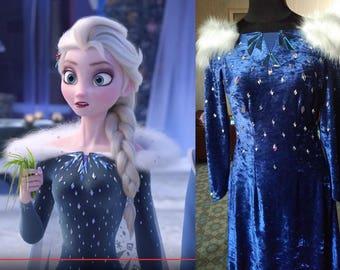 New Frozen Olaf Adventures Pre order Elsa Cosplay SALE Dress!! Custom Elsa dress , Elsa Snow Queen, Elsa Disney Princess ,Christmas Costume