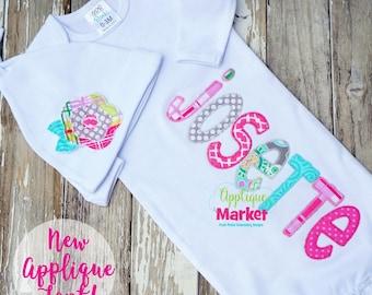 Machine Embroidery Design Bailey Applique Zig Zag Alphabet Font INSTANT DOWNLOAD