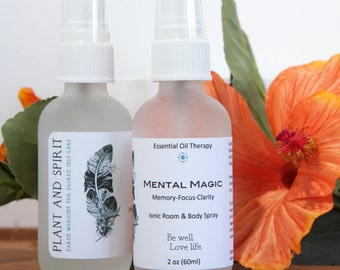 Memory, concentration spray, focus, study, work, create, MENTAL MAGIC essential oil, aromatherapy, room and body spray