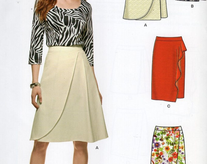 New Look 6326 Free Us ShipSewing Pattern Skirt Wrap 4 Looks Size 10 12 14 16 18 20 22 Waist 25-37 plus size