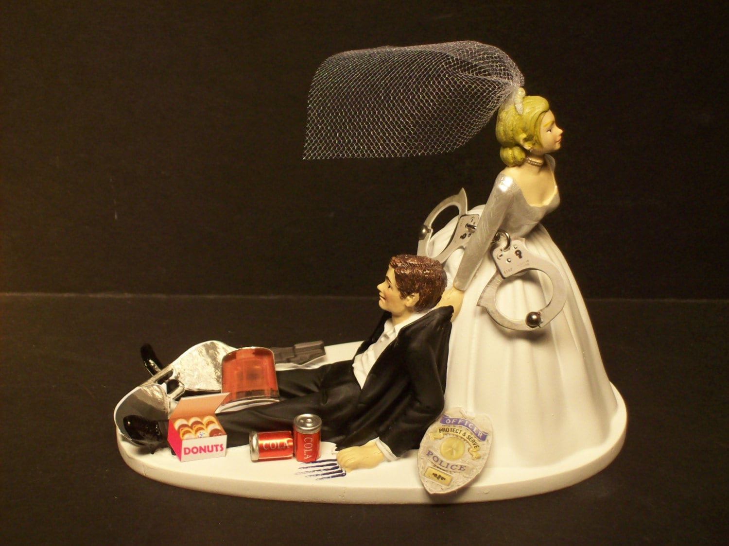 wedding cake toppers funny wedding cake topper highway patrol cop 26471