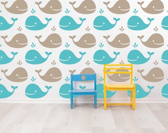 Kids Wall Decals, Nursery Wall Decals, Childrens Wall Decals, Baby Wall Decals, Whales