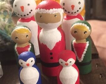 Christmas Peg people set