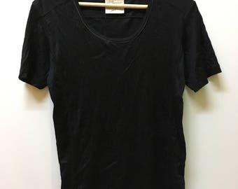 Authentic Katharine Hamnett London Plain Cut-Sewn Womens Crop Tee Tops T-shirt