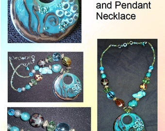 Vintage Multi-Bead and Pendant Necklace